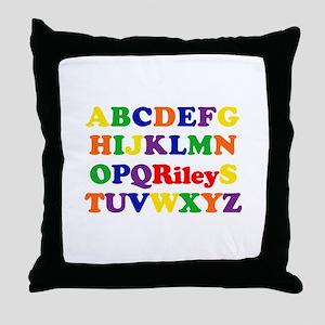 Riley - Alphabet Throw Pillow