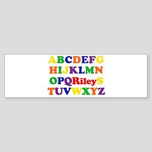 Riley - Alphabet Bumper Sticker
