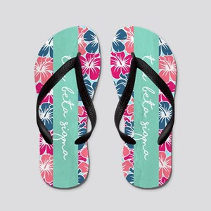 Tau Beta Sigma Floral Flip Flops
