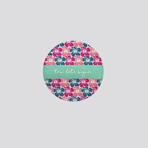 Tau Beta Sigma Floral Mini Button