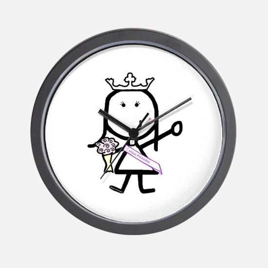 Girl & Pageant Wall Clock