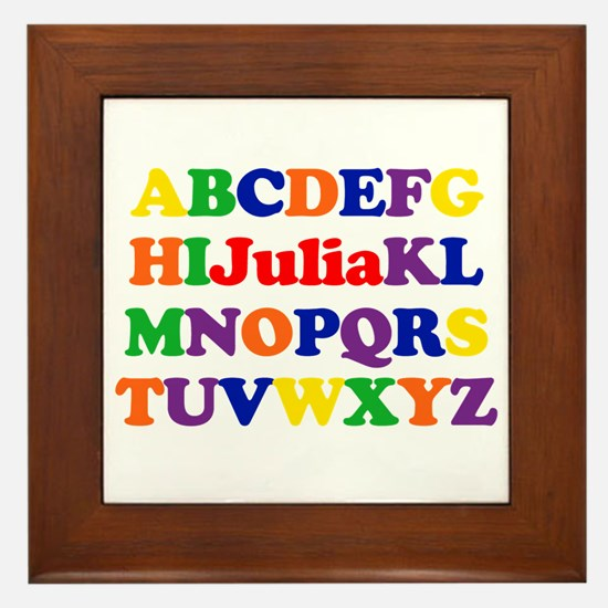 Julia - Alphabet Framed Tile