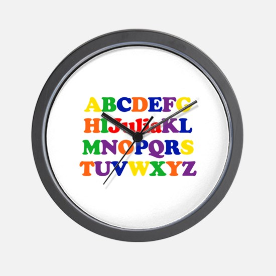 Julia - Alphabet Wall Clock