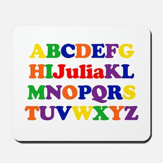 Julia - Alphabet Mousepad