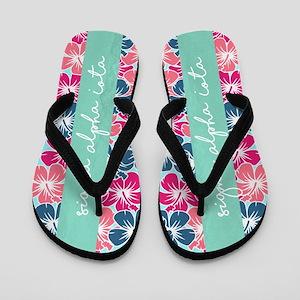 Sigma Alpha Iota Floral Flip Flops