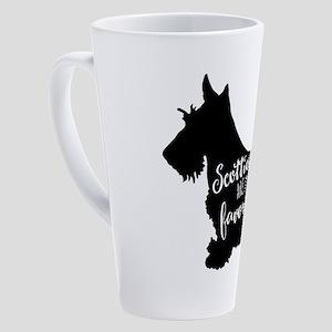 Scotties are my favorite people 17 oz Latte Mug