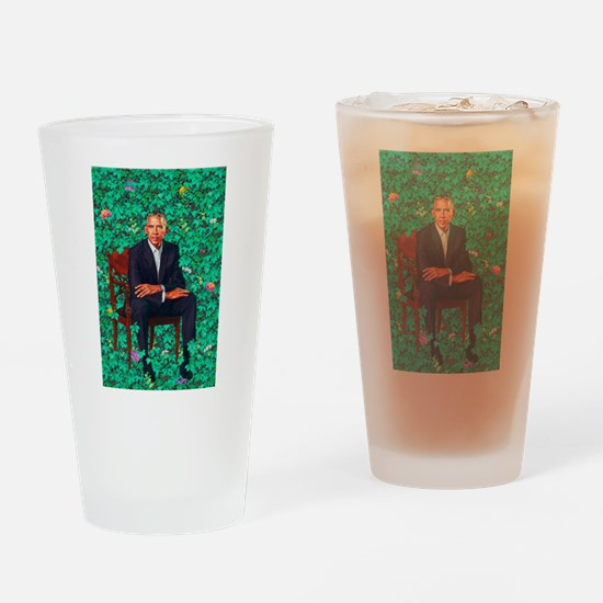 President Obama in a Garden Drinking Glass