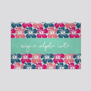 Sigma Alpha Iota Floral Rectangle Magnet
