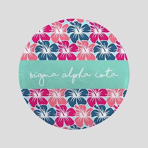 "Sigma Alpha Iota Floral 3.5"" Button"