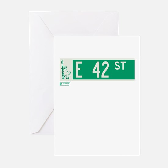 42nd Street in NY Greeting Cards (Pk of 20)