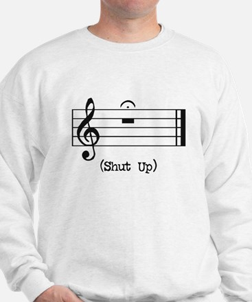 Shut Up (in musical notation) Jumper
