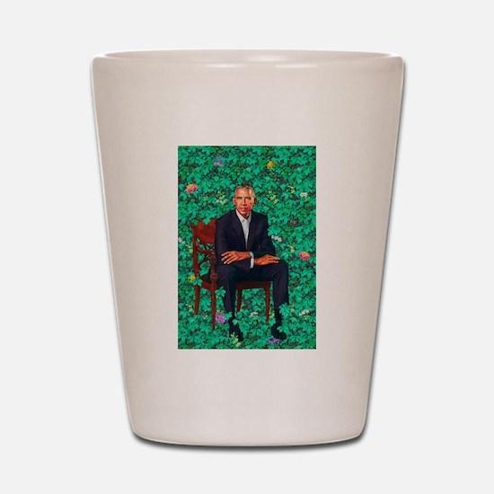 President Obama in a Garden Shot Glass