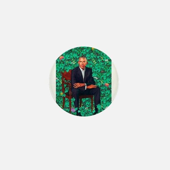 President Obama in a Garden Mini Button