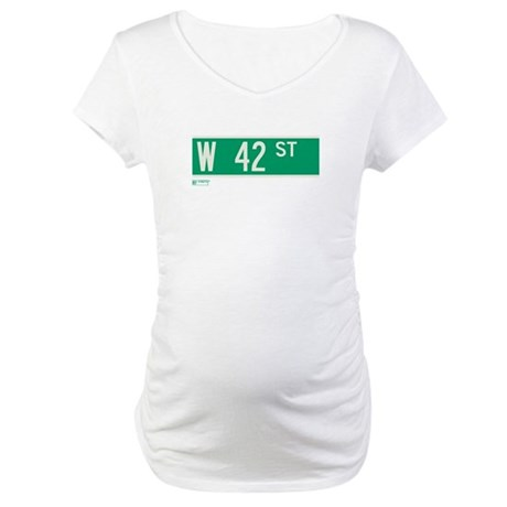 42nd Street in NY Maternity T-Shirt