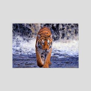 Tiger In Waterfall 4' x 6' Rug