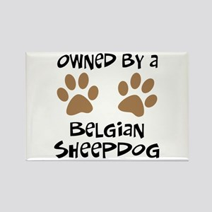 Owned By A Belgian Sheepdog Rectangle Magnet