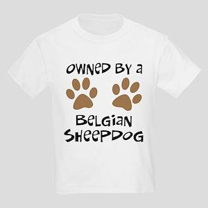 Owned By A Belgian Sheepdog Kids Light T-Shirt