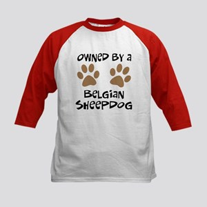 Owned By A Belgian Sheepdog Kids Baseball Jersey