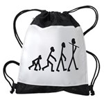 Evolution of Stickman Drawstring Bag