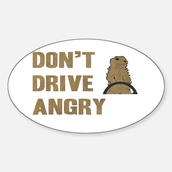 Don't Drive Angry Oval Decal