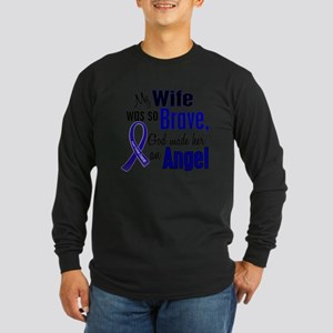 Angel 1 WIFE Colon Cancer Long Sleeve T-Shirt