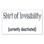 Shirt of Invisibility - curre Sticker (Rectangular