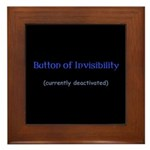 Button of Invisibility Framed Tile