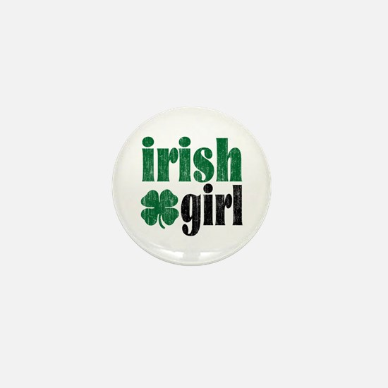 Irish Girl Mini Button