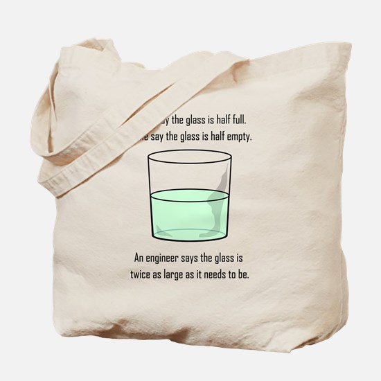 The Glass is Too Large Tote Bag