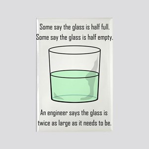 The Glass is Too Large Rectangle Magnet