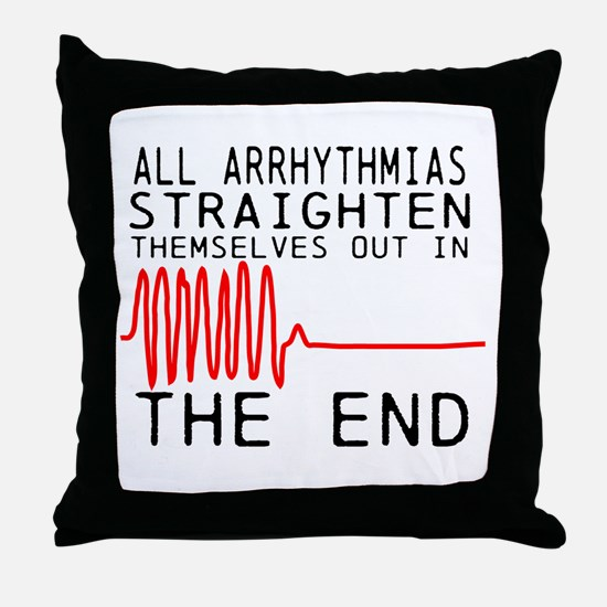 Arrhythmias Throw Pillow