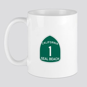 Seal Bech,California Highway Mug