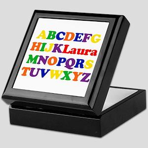 Laura - Alphabet Keepsake Box