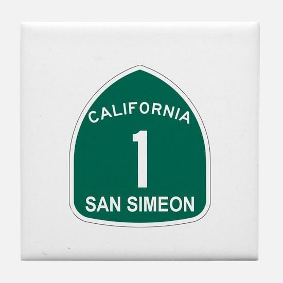 San Simeon, California Highwa Tile Coaster