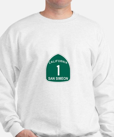 San Simeon, California Highwa Sweatshirt