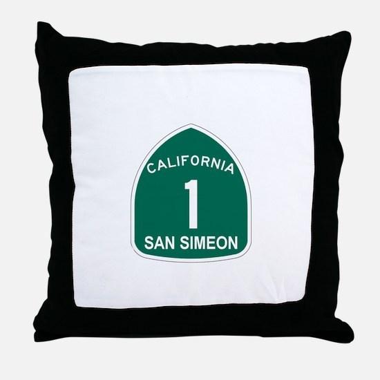 San Simeon, California Highwa Throw Pillow