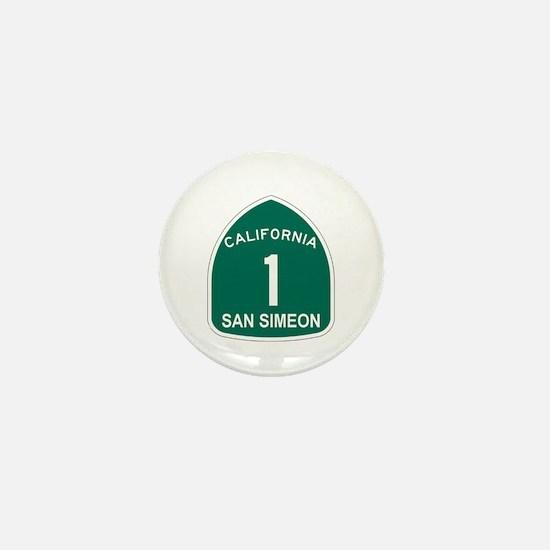 San Simeon, California Highwa Mini Button