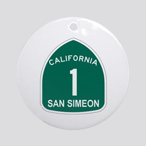 San Simeon, California Highwa Ornament (Round)