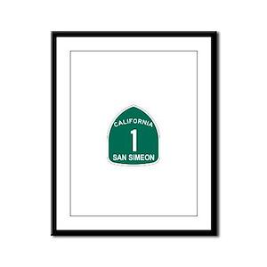 San Simeon, California Highwa Framed Panel Print