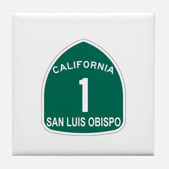 San Luis Obispo, California H Tile Coaster