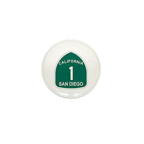 San Diego, California Highway Mini Button (100 pac