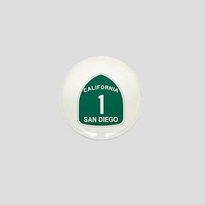 San Diego, California Highway Mini Button