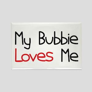 My Bubbie Loves Me Rectangle Magnet