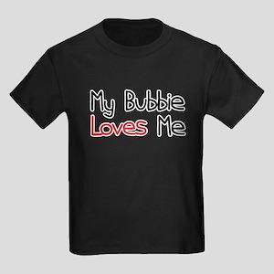 My Bubbie Loves Me Kids Dark T-Shirt