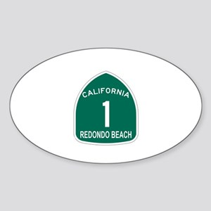Redondo Beach, California Hig Oval Sticker