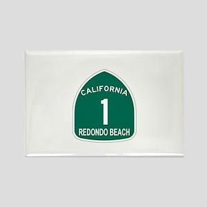 Redondo Beach, California Hig Rectangle Magnet