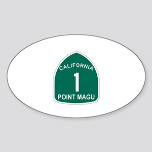 Point Magu, California Highwa Oval Sticker