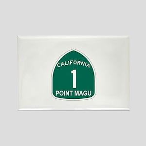Point Magu, California Highwa Rectangle Magnet