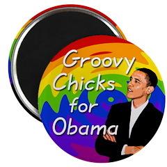 Groovy Chicks for Obama Magnet