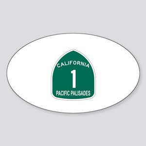 Pacific Palisades, California Oval Sticker